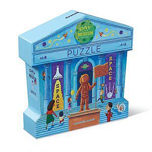 Puzzle – Ein Tag im Museum, Weltraum, 48Teile