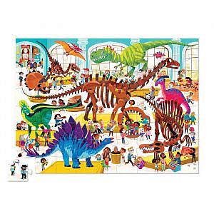 Puzzle – Ein Tag im Dinosauriermuseum, 72 Teile