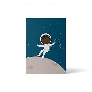 ellou – Postkarte Schwarze Astronautin 2