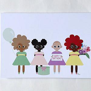 Klappkarte – Birthday Girls