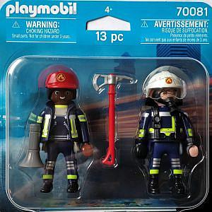 Playmobil® – Schwarze Feuerwehrfrau und weißer Feuerwehrmann