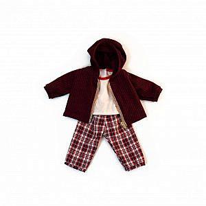 Miniland – Rotes Set, 38cm bis 40cm (Puppenkleidung)