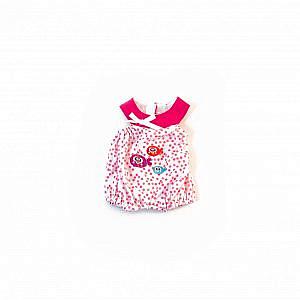 Miniland – rosa Pyjama mit Fischen, 32cm (Puppenkleidung)