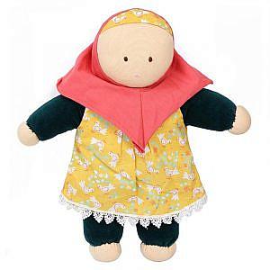 Puppe Safjia mit Hijab aus 100% Bio-Baumwolle!